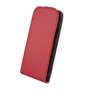 Kožené knižkové púzdro Elegance HTC One cervene