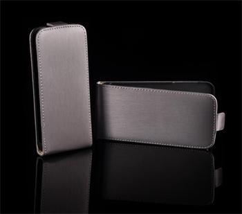 Kožené knižkové púzdro NEO slim Nokia Lumia 610 Šedá