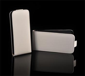 Kožené knižkové púzdro NEO slim Samsung i8160 Galaxy Ace 2 Biela
