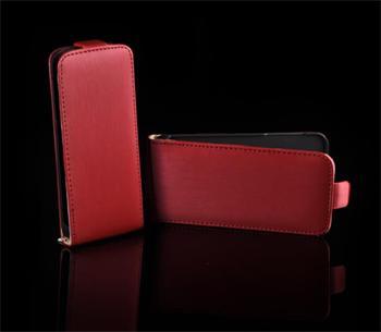 Kožené knižkové púzdro NEO slim Samsung S5360 Galaxy Y Červená