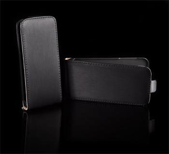 Kožené knižkové púzdro NEO slim Samsung S5830 Galaxy Ace Čierna