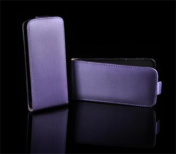 Kožené knižkové púzdro NEO slim Sony Xperia J ST26i Fialová