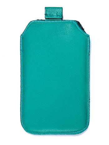 Kožené púzdro veľkosť 05 zelené s pásikom pre Nokia 101, Nokia C2-05, Nokia 2220, Samsung E2252, Samsung E1052, SE Elm, Nokia N73,
