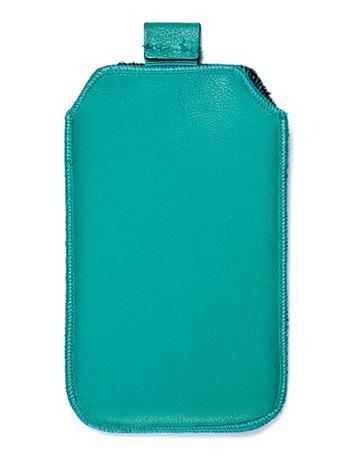 Kožené púzdro veľkosť 13 zelené s pásikom pre Sam. S5380D, Sam. B5330, Sam. i8350, Sam. S8160, Sam. S5830, Motorola Motoluxe, LG E