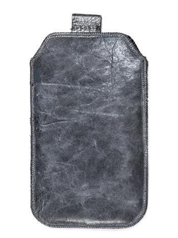 Kožené púzdro veľkosť 20 sivé s pásikom pre Nokia 808, ZTE Blade III, Sam. I8530, ZTE Grand X, Nokia Lumia 710, Samsung i8190, SE
