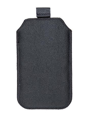 Kožené púzdro veľkosť 21 čierne s pásikom pre Samsung Galaxy Note
