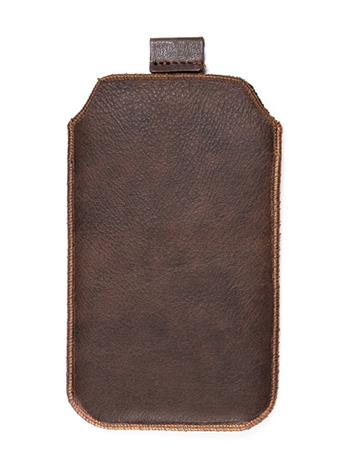 Kožené púzdro veľkosť 21 hnedé s pásikom pre Samsung Galaxy Note