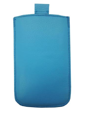 Kožené púzdro veľkosť 26 modré s pásikom na Sony M2, Z C6603, Z1 C6903, Samsung S5 G900, Huawei G620S, G630, HTC 610