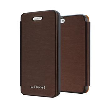 Flip Púzdro pre iPhone 5/5s Mercury Techno - Hnedé