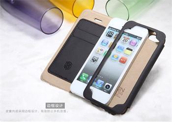 Nillkin New Stylish Flip Kožené Pouzdro Čierne pro iPhone 5/5S/SE