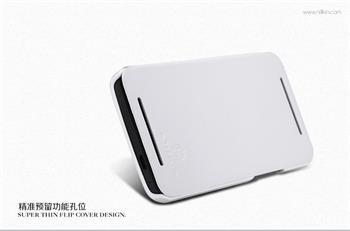Nillkin New Stylish Flip Kožené Pouzdro White pro HTC ONE/M7