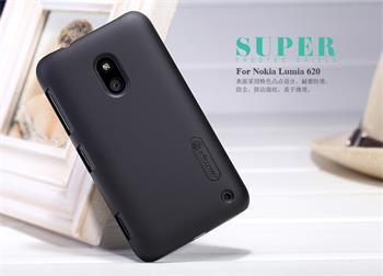 Nillkin Super Frosted Zadní Kryt Black pro Nokia Lumia 620