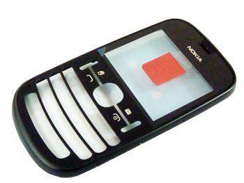 Nokia Asha 200/201 Graphite Přední Kryt