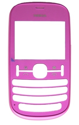 Nokia Asha 200/201 Mate Pink Přední Kryt