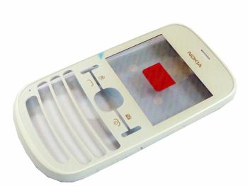 Nokia Asha 200/201 Pearl White Přední Kryt