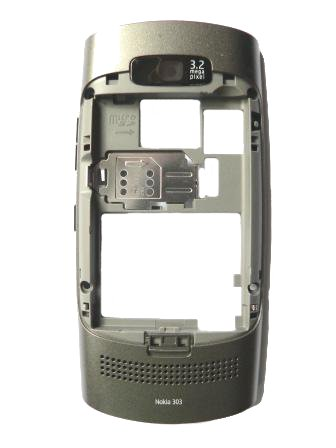Nokia Asha 303 Graphite Střední Díl