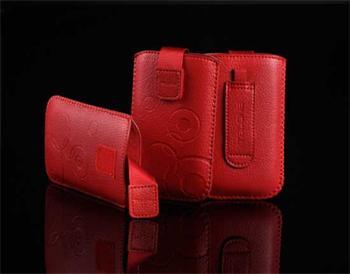 Púzdro DEKO 1 červené, veľkosť 08 pre telefóny LG KU990/Sam B3410/S5570/S6500/S5380/SE Hazel/X8/LG L3