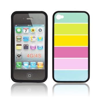 Puzdro gumené iPhone 4/4S Rainbow