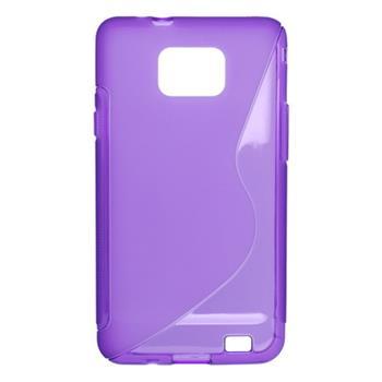 Puzdro gumené Samsung i9100 Galaxy S2 fialové
