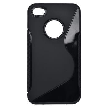 Puzdro iPhone 4/4S S-line TPU, čierne