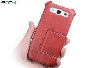 ROCK Dance Kožené Folio Pouzdro pro Samsung i9300 S3 Red