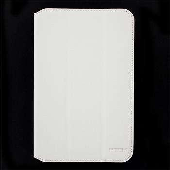 ROCK Flexible Kožené Pouzdro Black pro Samsung N5100 Note 8.0 White