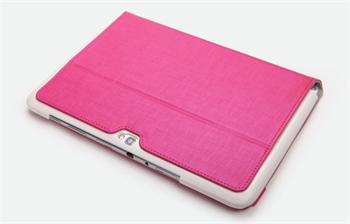 ROCK Flexible Kožené Pouzdro Pink pro Samsung Galaxy Note N8000/N8010