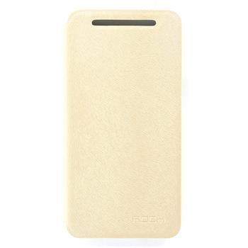 ROCK Flip Kožené Pouzdro pro HTC ONE/M7 Cream