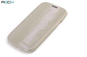 ROCK Flip Kožené Pouzdro pro Samsung N7100 Galaxy Note2 Cream