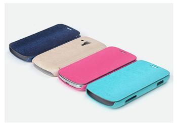 ROCK Flip Kožené Pouzdro pro Samsung S7562 Galaxy S Duos Cream