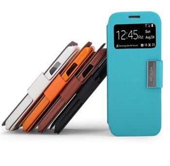 ROCK S-View Kožené Flip Pouzdro Black pro Samsung i9505 Galaxy S4