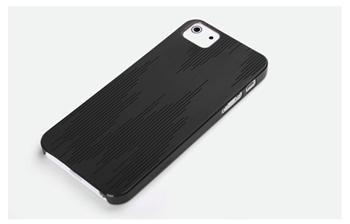 ROCK Texture Extra Tenký 0,5mm Zadní Kryt pro iPhone 5, 5S Black