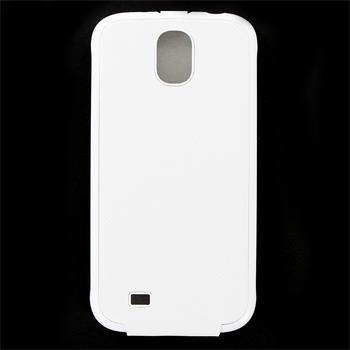 SAMS4CFWH Made by Samsung Kožené Flip Pouzdro Biele pro S4 i9505 (EU Blister)