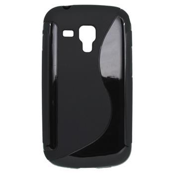 Samsung Trend S7560/Trend Plus S7580, Samsung S DUOS S7562/S DUOS 2 7582 Gumené puzdro, čierne