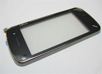 Sklíčko + dotyková plocha Nokia N97 + rám Black