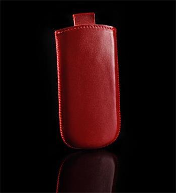 Vsuvka Pravá Koža Future Sony Xperia J ST26i Červená